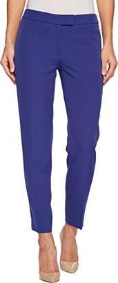 Anne Klein Women's Slim Bowie Pant-Blue
