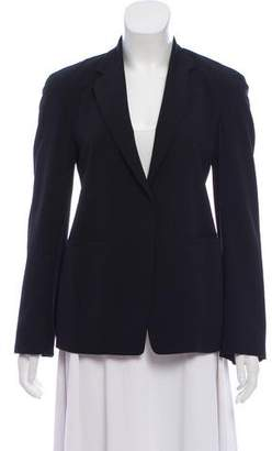 Donna Karan Notch-Lapel Wool Blazer