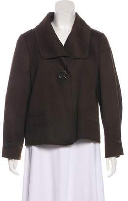 Ellen Tracy Wool Long Sleeve Short Coat