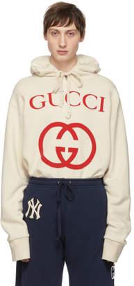 Gucci Off-White Logo Hoodie