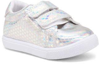 Toddler Girls Iridescent Velcro Sneakers