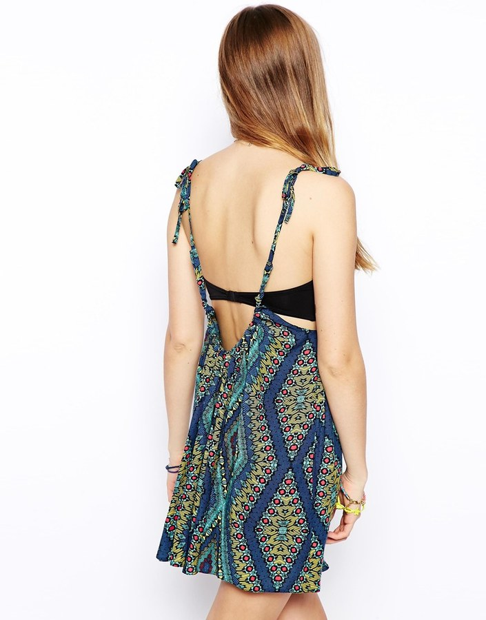 Asos Drape Plunge Back Beach Dress