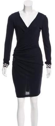 Emilio Pucci Embellished Surplice Dress