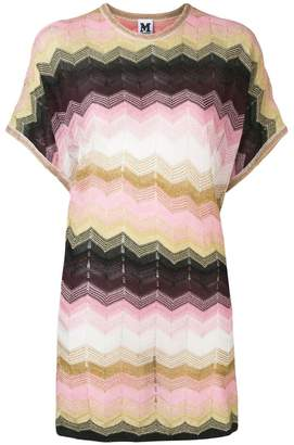 M Missoni zigzag pattern oversized jumper
