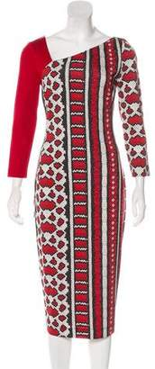 Just Cavalli Asymmetrical Printed Dress