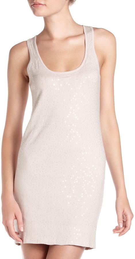 Minnie Rose Sequin Tank Dress, Vanilla Bean