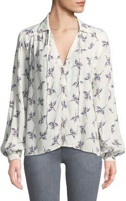BA&SH Fausta Floral Button-Front Blouse