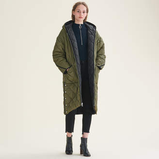Maje Long reversible down jacket