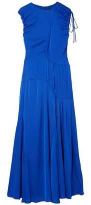 Ellery Ruched Stretch-Silk Maxi Dress