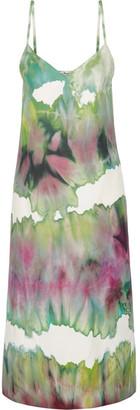 Acne Studios - Sway Printed Crepe Midi Dress - Light green