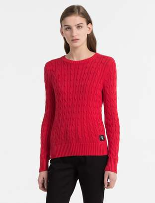 Calvin Klein pima cotton cable knit sweater