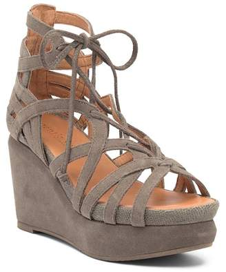 Kenneth Cole Gentle Souls by Joy Lace-Up Suede Sandal