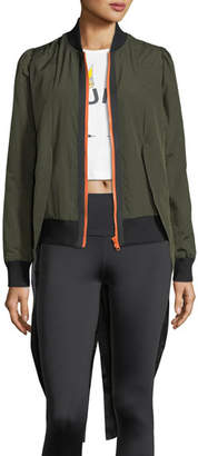 The Upside Tails Zip-Front Bomber Jacket