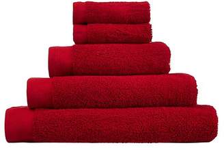 George Home 100% Cotton 2 Pack Bath Towels - Cherry
