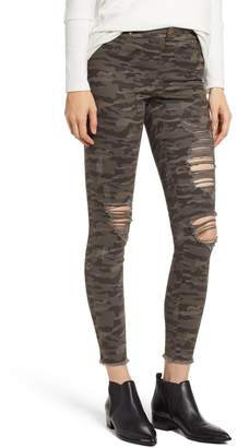 ZEZA B BY HUE Shredded Camo Denim Leggings