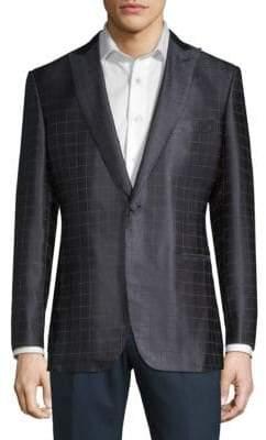 Brioni Windowpane Silk Jacket