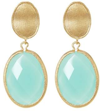 Rivka Friedman Faceted Mint Chalcedony Crystal Drop Earrings
