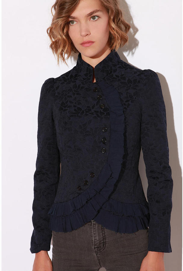 Lucca Couture Ruffle Collar Jacket