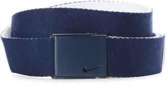 Nike Navy & White Single Web Reversible Belt