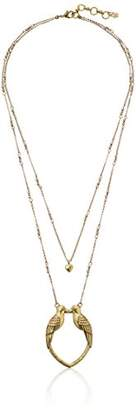 Lucky Brand Long Kissing Bird Pendant Necklace
