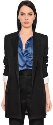 Haider Ackermann Cool Wool & Satin Blazer