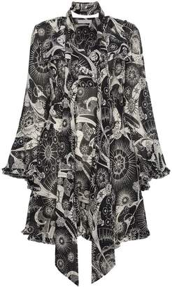 Chloé kaleidoscope-print bell-sleeve dress