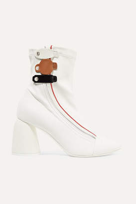 Ellery Leather Ankle Boots - White