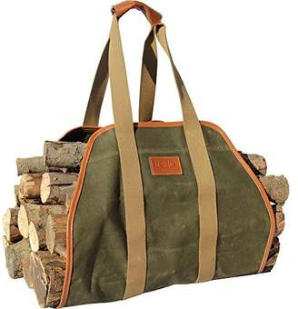 INNO STAGE Waxed Canvas Log Carrier Tote Bag