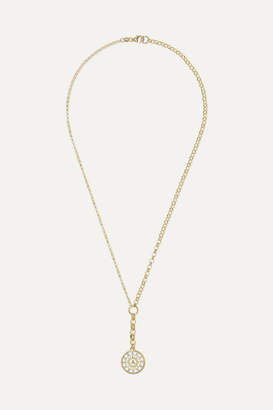 Foundrae Pyramid 18-karat Gold, Diamond And Enamel Necklace - one size