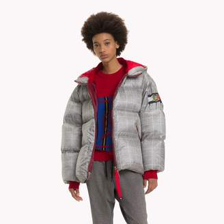 Tommy Hilfiger Checked Hooded Down Coat