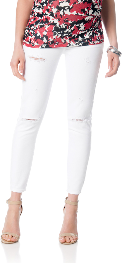 A Pea In The PodA Pea In The Pod Destructed Skinny Leg Maternity Ankle Jeans