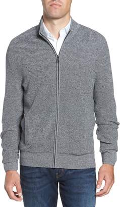 Nordstrom Marled Mock Neck Zip Sweater