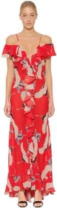 Jolene Crane Printed Chiffon Dress