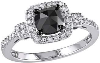 Black Halo Affinity Diamond Jewelry Affinity 1.00 cttw Cushion DiamondRing, 14K
