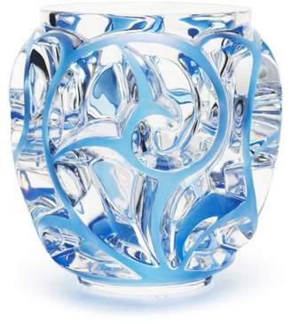 Lalique Tourbillons Vase Small, Blue