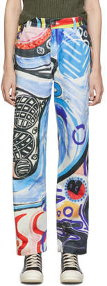 Charles Jeffrey Loverboy Multicolor Art Jeans