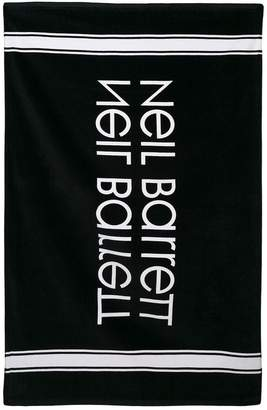 Neil Barrett Kids ロゴ ビーチタオル