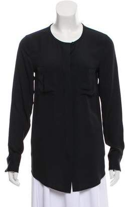 Adriano Goldschmied Silk Long-Sleeve Blouse
