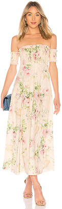 Zimmermann Iris Shirred Bodice Maxi Dress