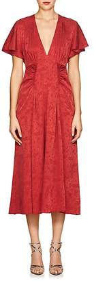 Masscob Women's Mila Silk-Blend Jacquard V-Neck Dress