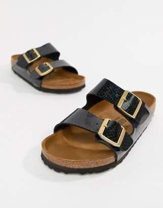 f2d43fd879d3 Birkenstock Arizona Black Magic Print Flat Sandals