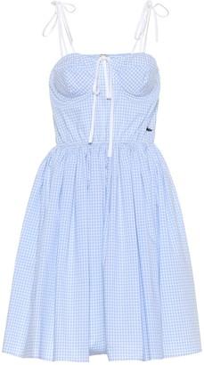 Miu Miu Gingham cotton dress