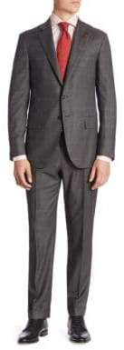 Isaia Plaid Suit