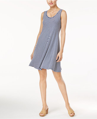 Style & Co. Chevron Striped A-Line Dress, Created for Macy's $49.50 thestylecure.com
