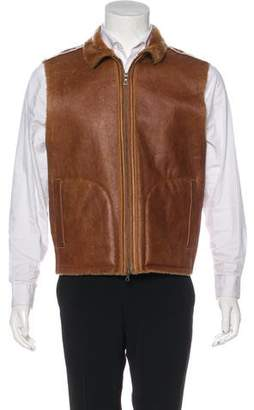 Theory Shearling Zip Vest