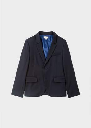 Paul Smith Boys' 8-10 Years Navy 'A Suit To Smile In' Wool Blazer