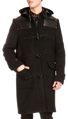 Givenchy Studded Leather-Trim Duffle Coat $4,160 thestylecure.com