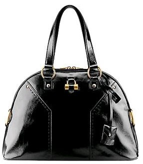 YSL - Large Muse - BLACK PATENT