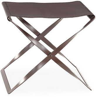 Global Views Folding Leather Stool