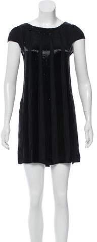 Alice + OliviaAlice + Olivia Bead-Embellished Silk Dress